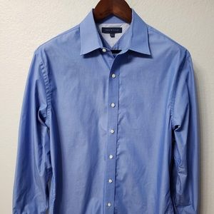 Tommy Hilfiger Men's L/S Dress Shirt Royal Blue